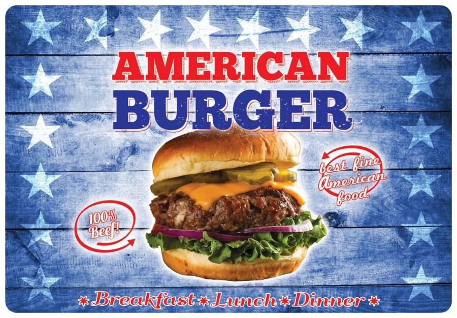 Omyvatelné prostírání na stůl 31x45cm Hamburger - Alvarak