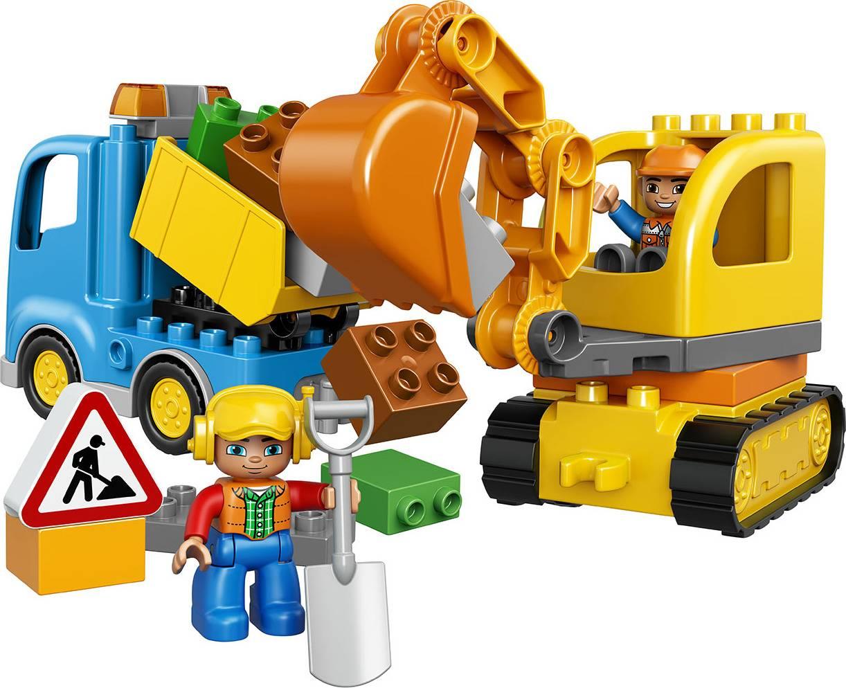 Fotografie Pásový bagr a náklaďák 2210812 Lego