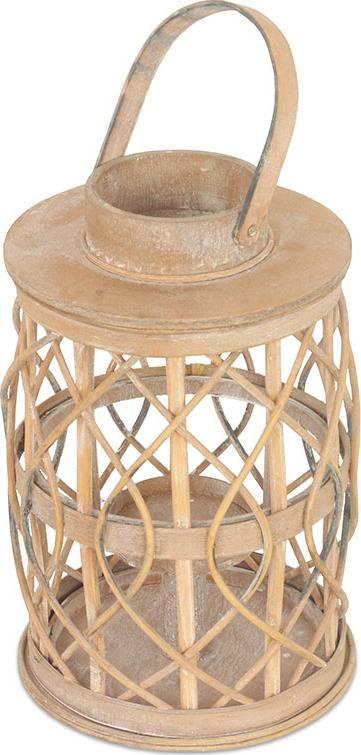 Lucerna dřevěná se skleněnou výpní DT1631 Art