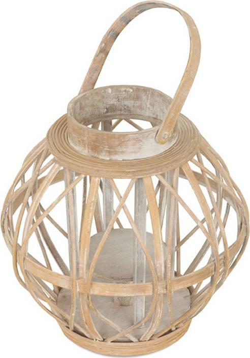 Lucerna dřevěná se skleněnou výpní DT1633 Art
