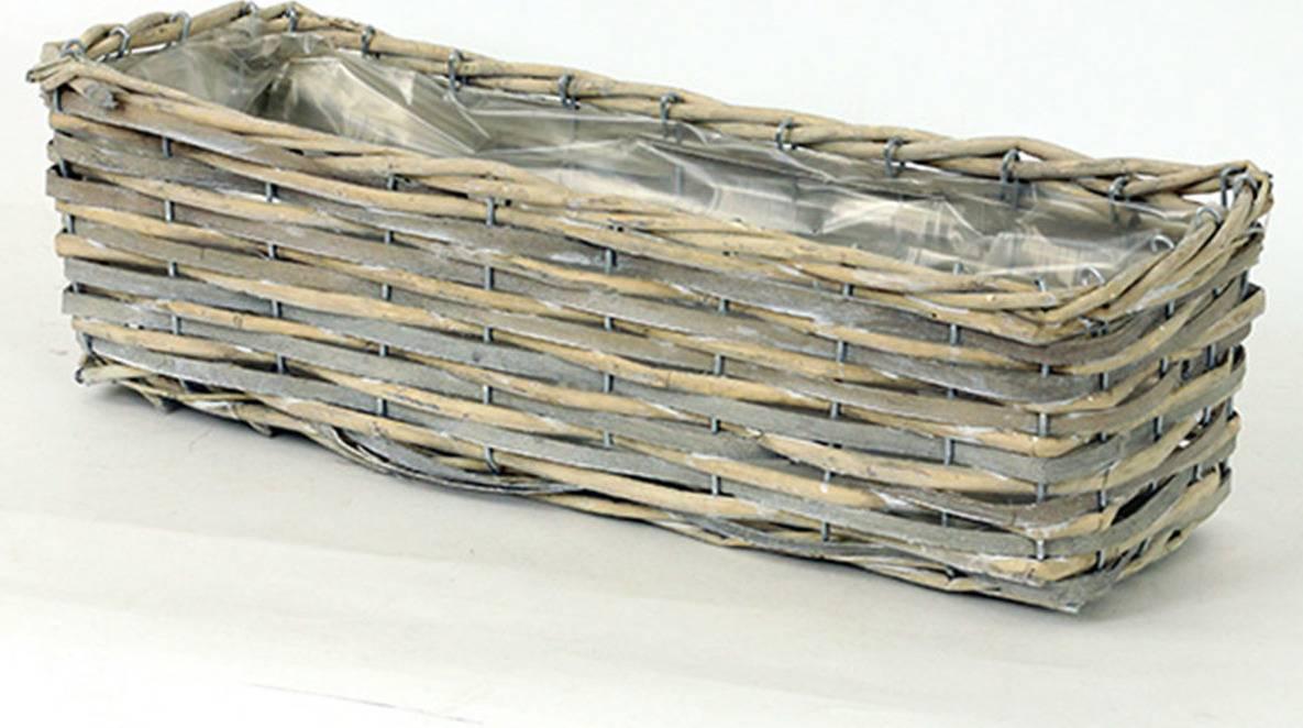 Truhlík dekorační, štípané dřevo -proutí PD121 Art