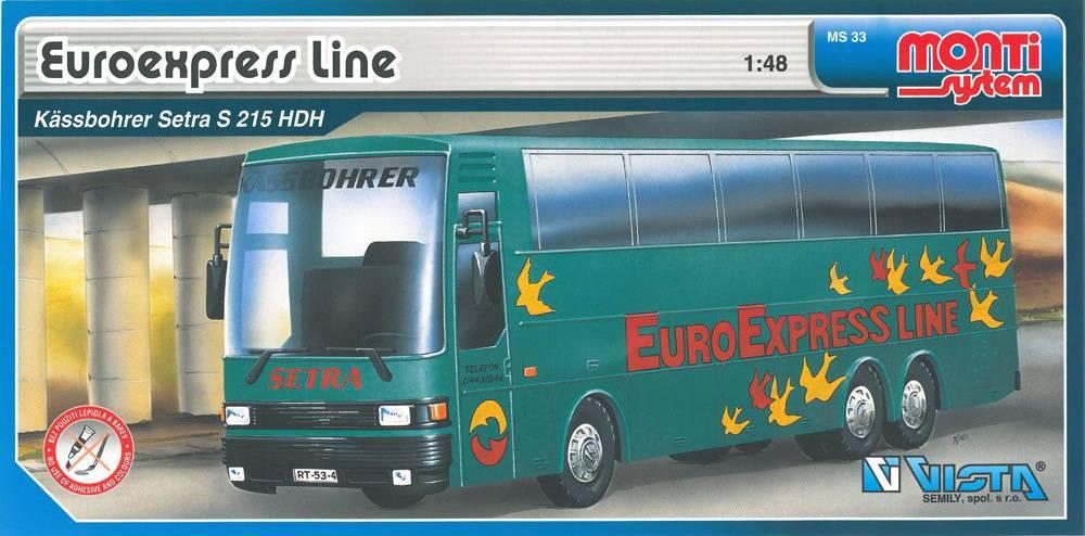 Fotografie Stavebnice Monti 33 Euroexpress Line-Bus Setra 36MONT 33 Vista