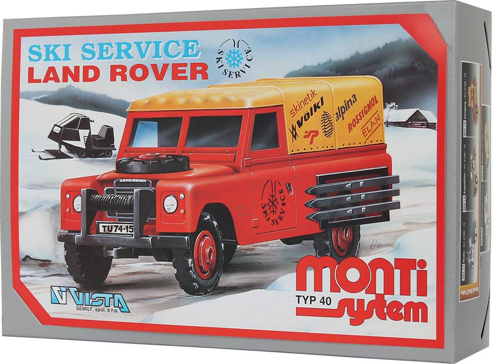 Fotografie Stavebnice Monti 40 Ski Service - Land Rover 36MONT 40 Vista