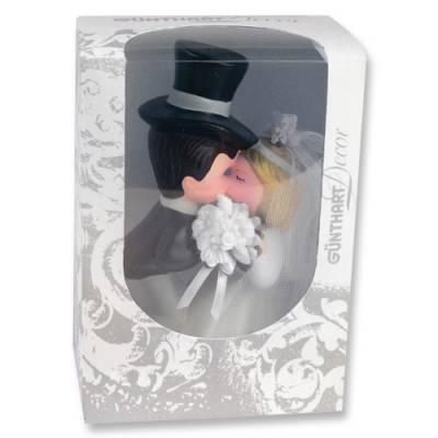 Svatební figurka na dort 1ks pusa porcelán - Gunthart