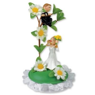 Svatební figurka na dort 1ks ženich na stromě 145mm - Gunthart