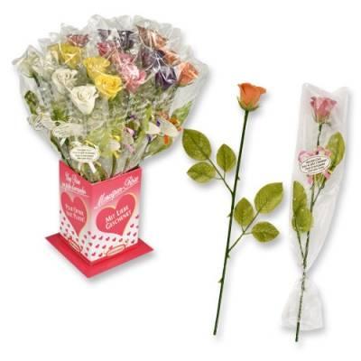 Marcipánová růže barevná 1ks40x410mm - Gunthart
