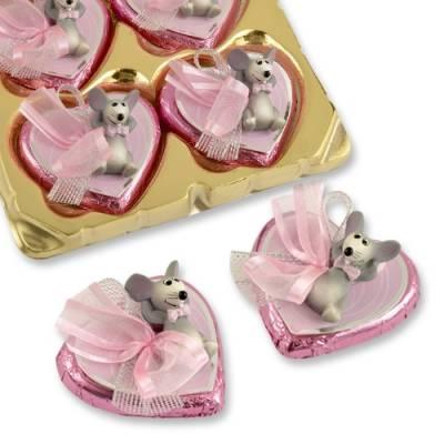 Plastová myška a čokoládové srdíčko - Gunthart