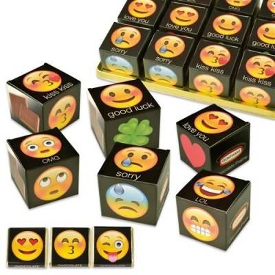 Čokoládová krabička Emoticons 45x45x45mm - Gunthart