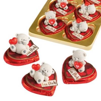 Medvídek a čokoládové srdíčko 24g 1ks - Gunthart