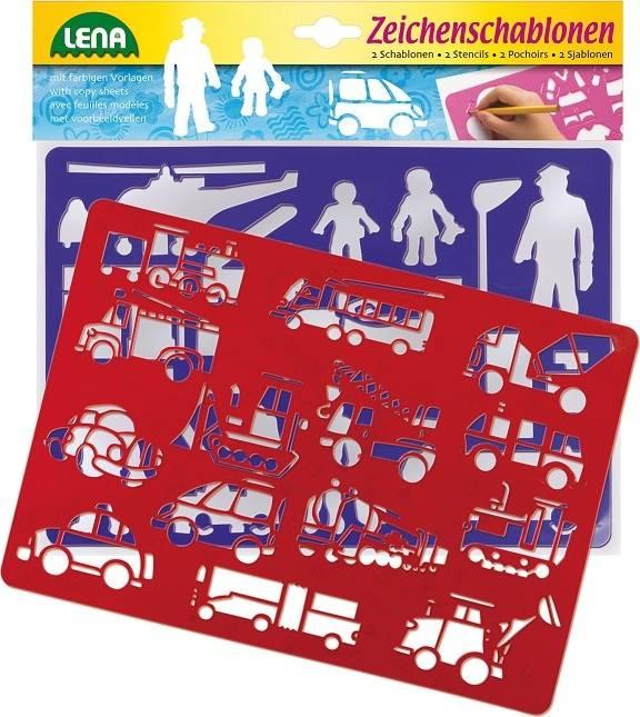 Lena 65773 Kreslící šablony Dopravní prostředky a lidi