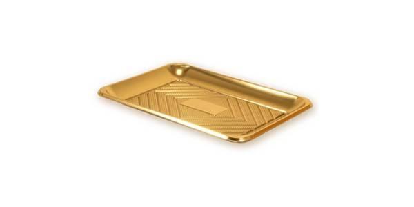 Servírovací tác zlatý 27x19cm -