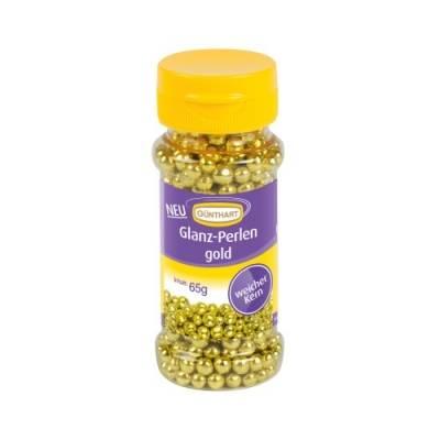 Cukrové perly na zdobení zlaté 65g - Gunthart