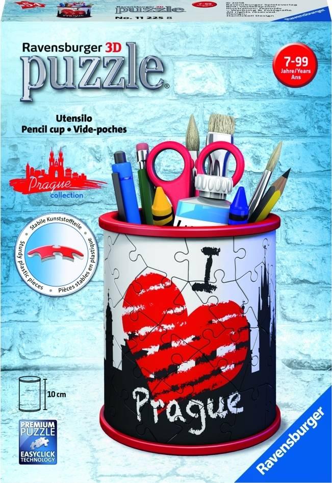 Stojan na tužky I love Prague 54 dílků 3D 2411225 Ravensburger