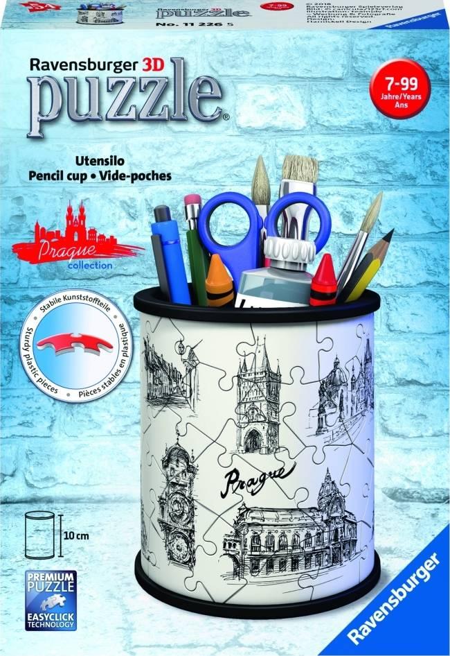 Stojan na tužky kresba Prahy 54 dílků 3D 2411226 Ravensburger