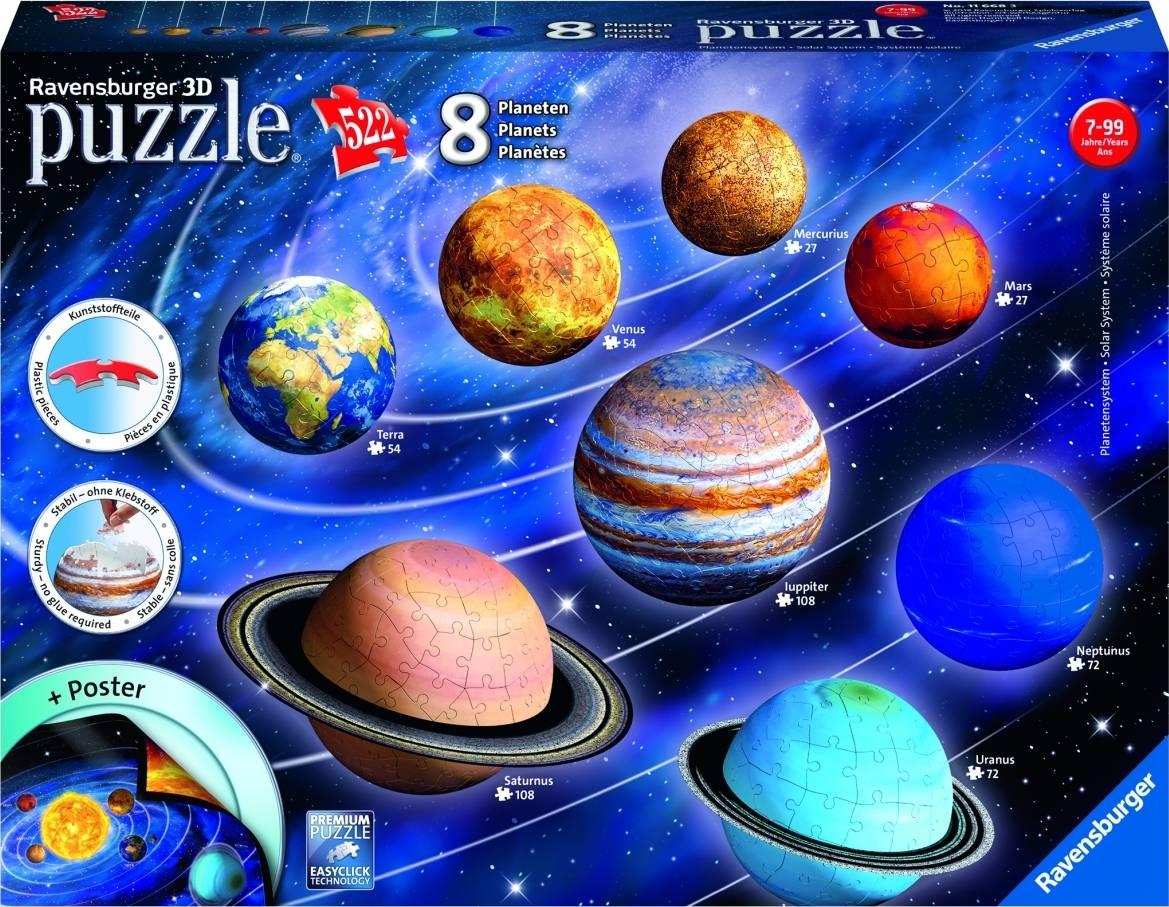 Planetární soustava; 522 dílků 3D 2411668 Ravensburger
