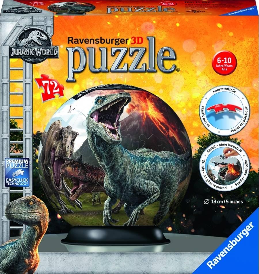 Jurský svět; 72 dílků 3D 2411757 Ravensburger
