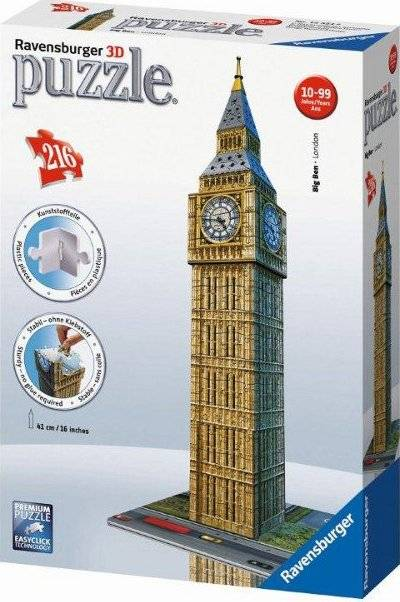 Big Ben 3D 216 dílků 2412554 Ravensburger
