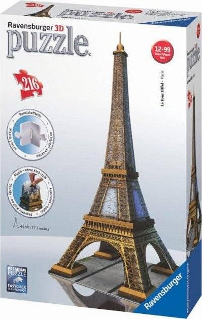 Eiffelova věž 3D 216 dílků 2412556 Ravensburger