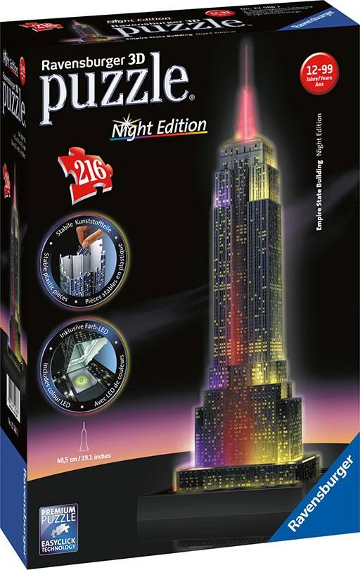 Empire State Building- Noční edice 3D 216d 2412566 Ravensburger