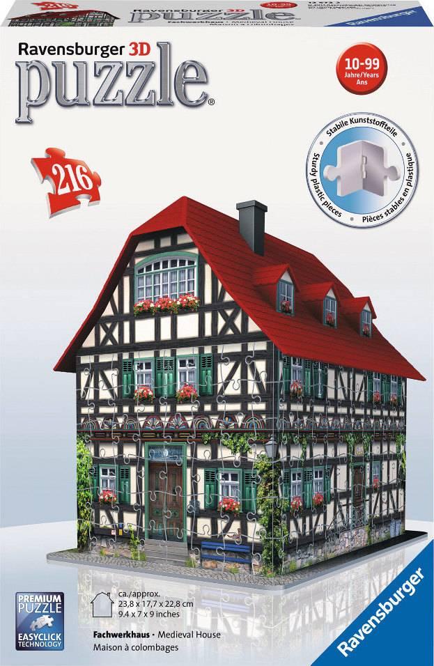 Středověký dům 3D 216d 2412572 Ravensburger