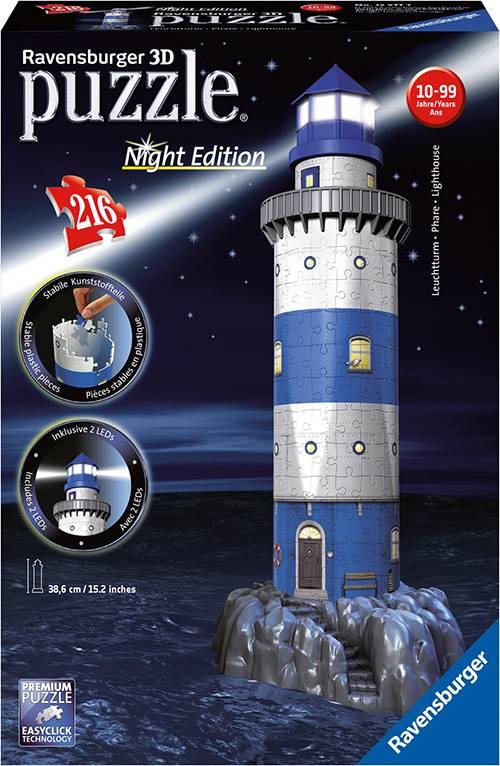 Maják v příboji (Noční edice) 3D 216d 2412577 Ravensburger