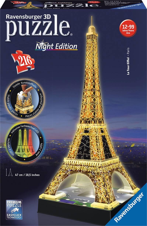 Eiffelova věž (Noční edice) 3D 216d 2412579 Ravensburger