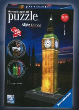 Big Ben Noční Edice 3D 216d 2412588 Ravensburger