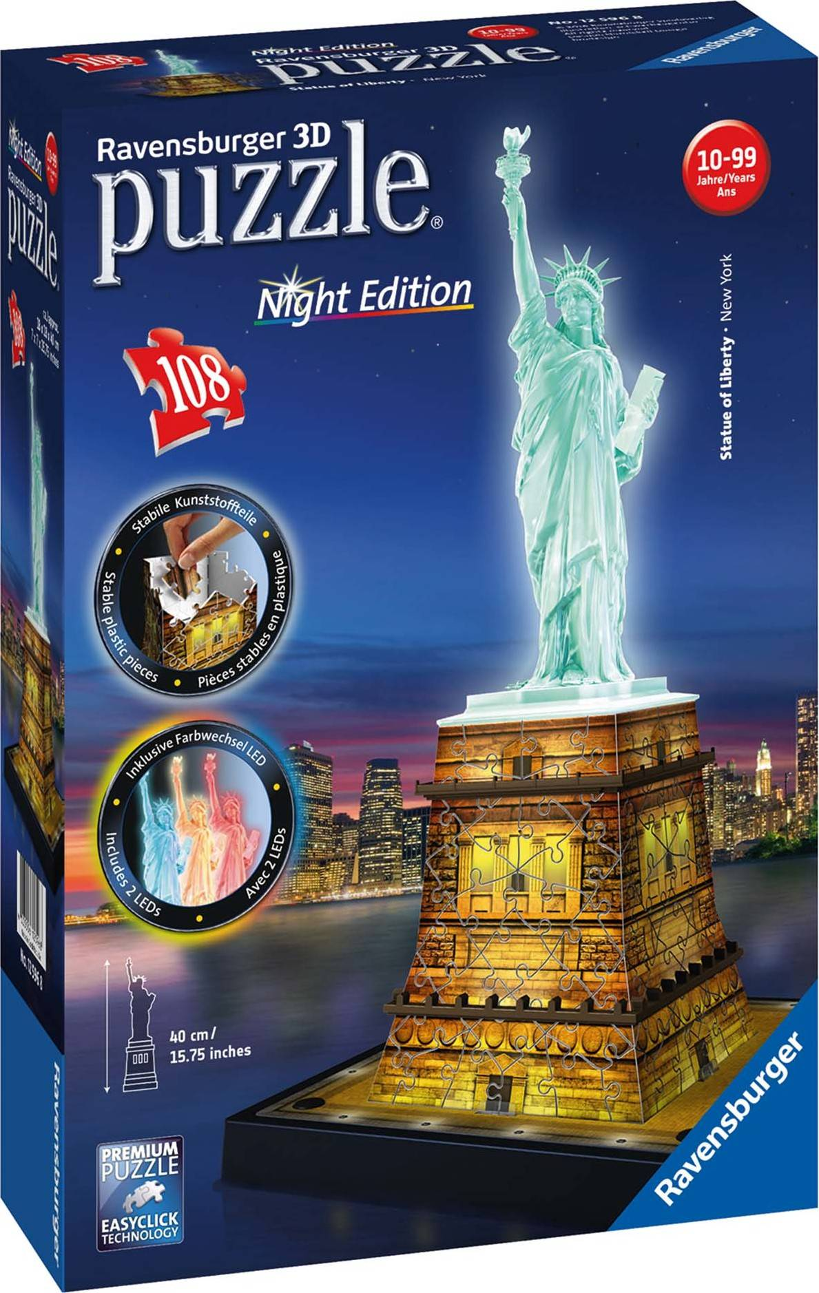 Socha Svobody 3D (Noční edice) 108d 2412596 Ravensburger