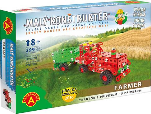Farmar traktor s přívěsem-malý konstruktér 35A1685 Pexi