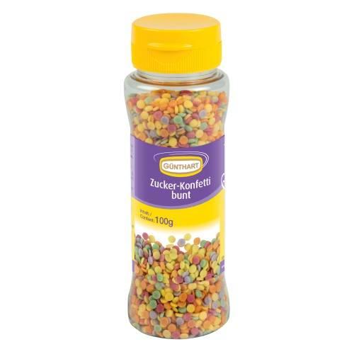 Cukrové sypání 100g barevné konfety - Gunthart