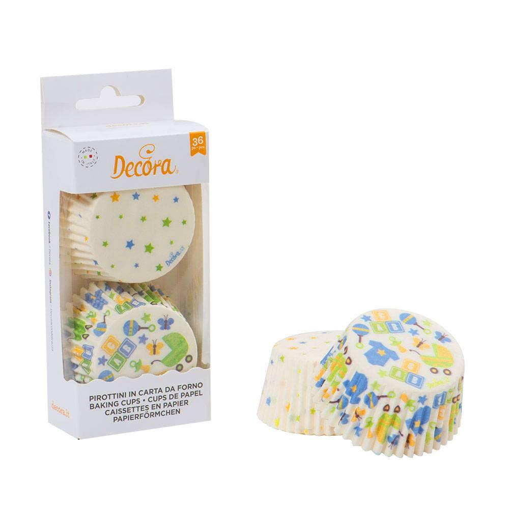 Košíčky na muffiny 36ks párty narozeniny kluk - Decora