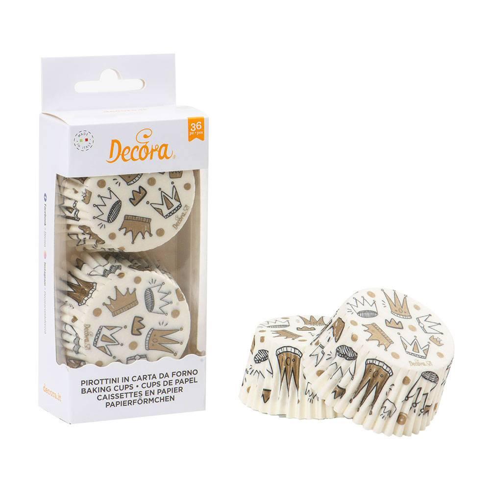Košíčky na muffiny 36ks královská koruna - Decora