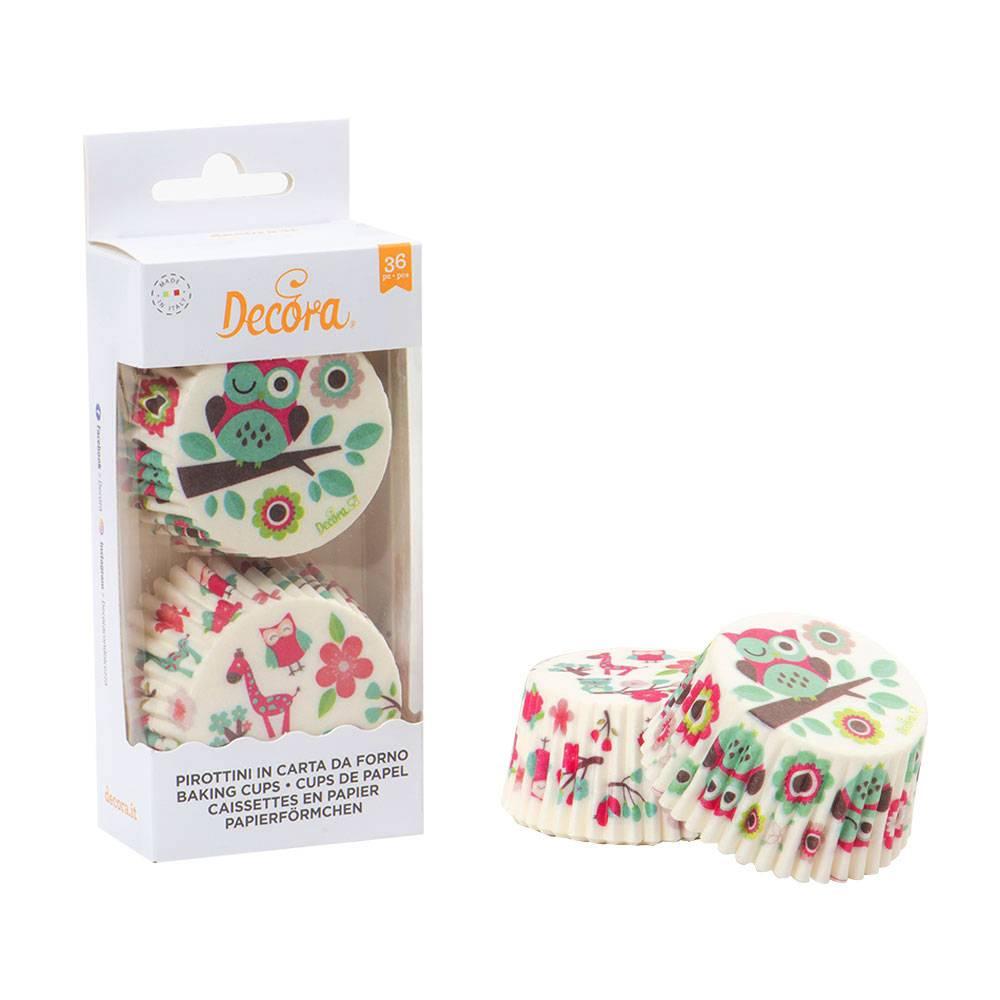 Košíčky na muffiny 36ks sovy - Decora