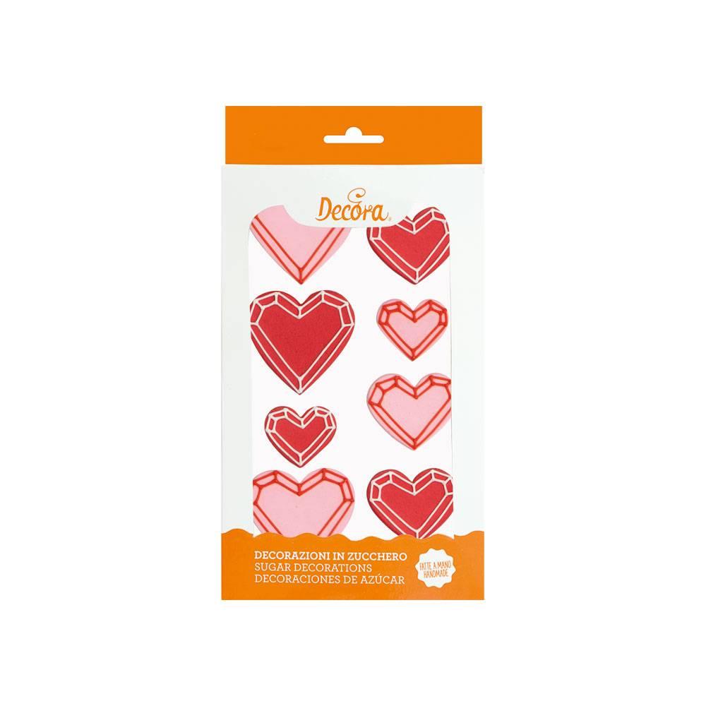 Cukrové zdobení srdce 8ks - Decora