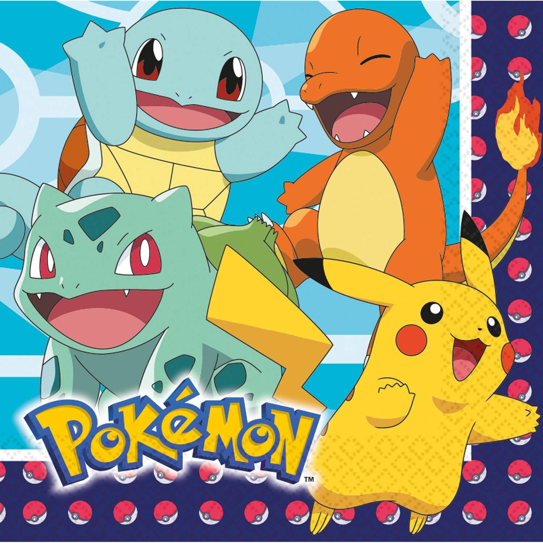 Papírové ubrousky 33x33cm 16ks Pokémon - Amscan