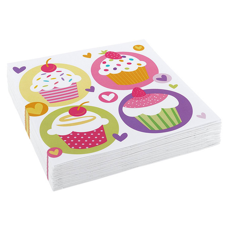 Ubrousky Cupcake 33x33cm 20ks - Amscan