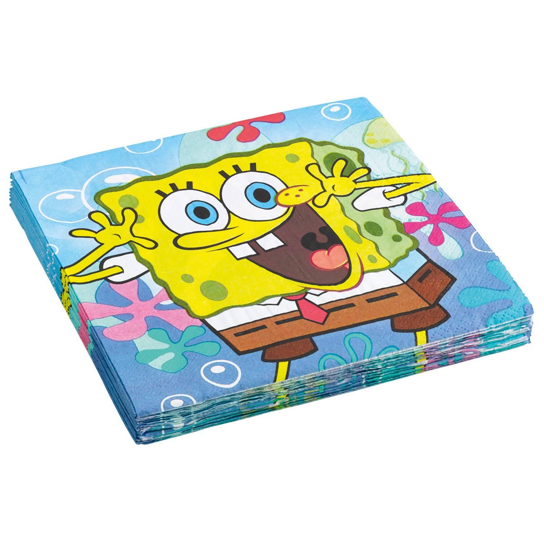 Papírové ubrousky 33x33cm 20ks Sponge Bob - Amscan