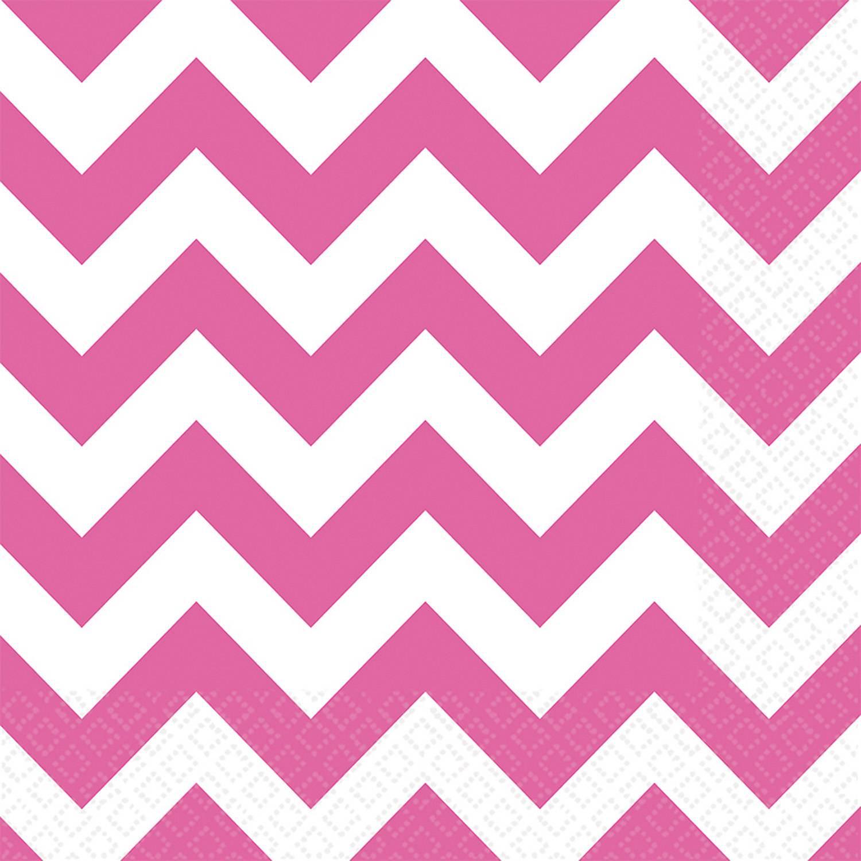 Papírové ubrousky 20ks 33x33cm zubaté růžové - Amscan
