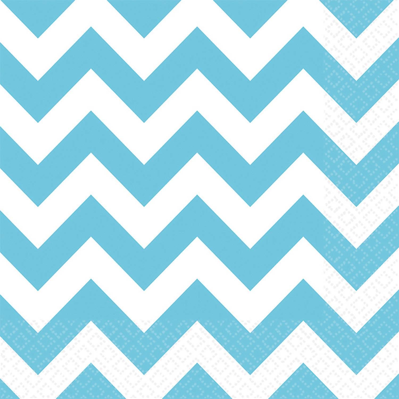 Papírové ubrousky 20ks 33x33cm zubaté modré - Amscan