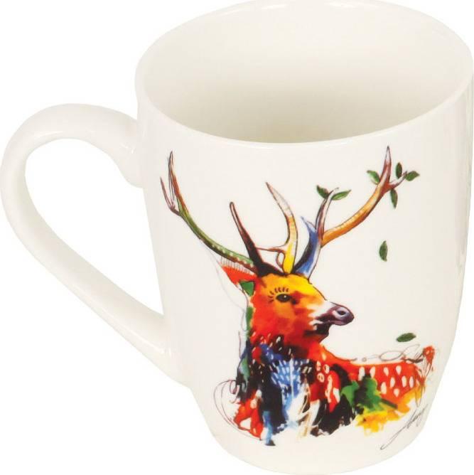 Hrneček porcelánový, dekor jelena, obsah 330 ml SF1108-J Art