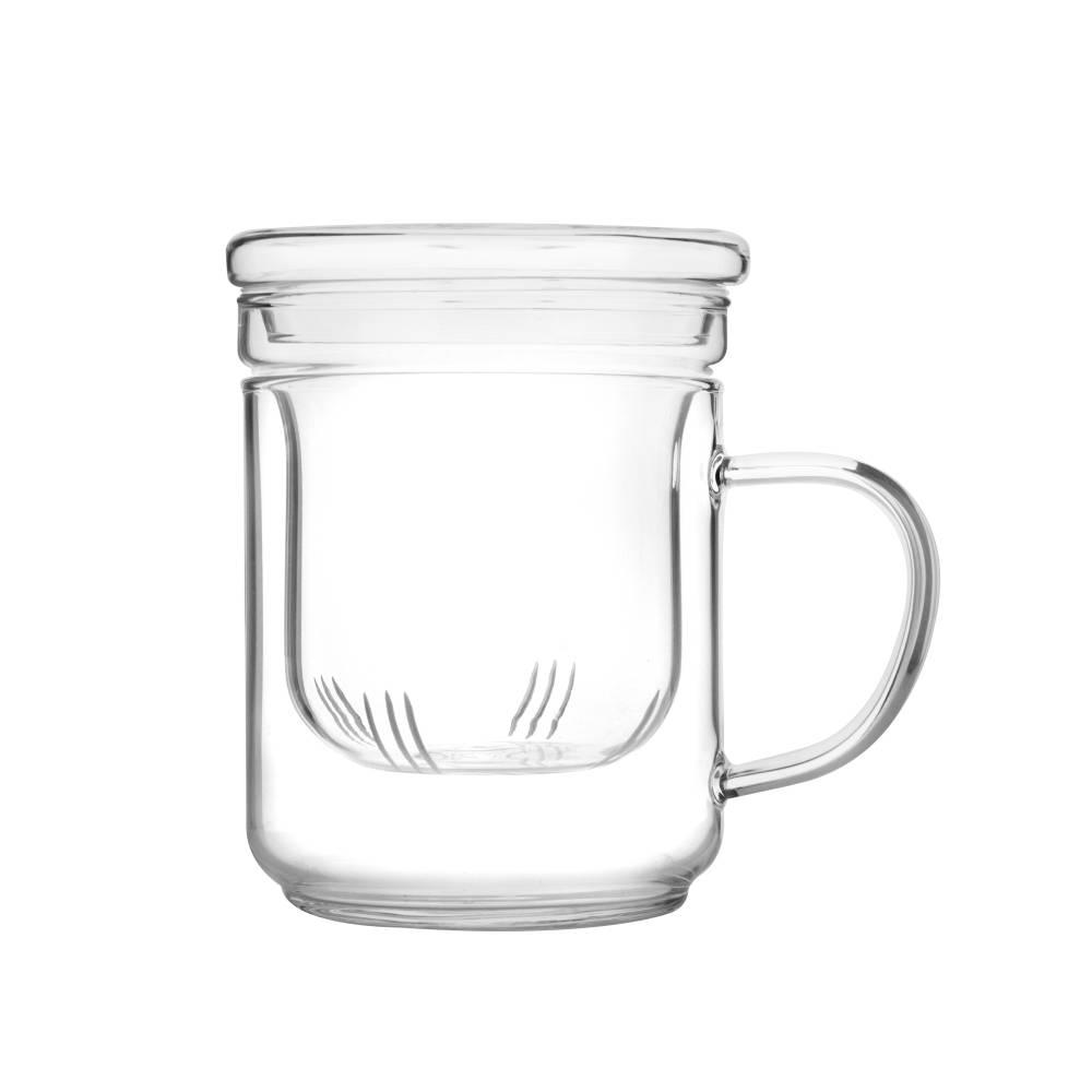 Skleněný šálek na čaj s filtrem 0,4l - Ibili