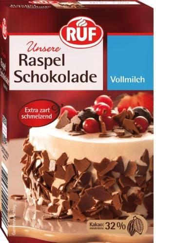 Čokoládové kousky mléčné 32% kakaa 100g - RUF