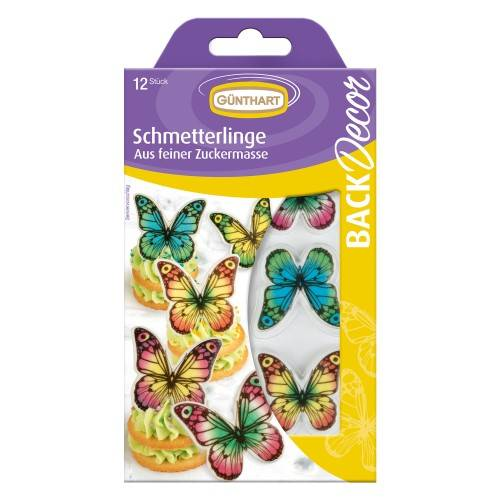 Cukrová dekorace motýlci 12ks - Gunthart