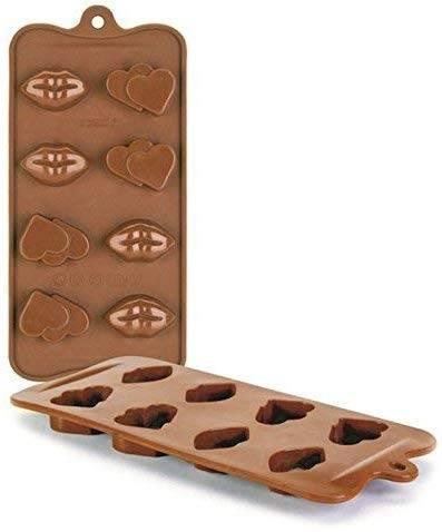 Ibili Silikonová forma na čokoládu ve tvaru srdce a rtů