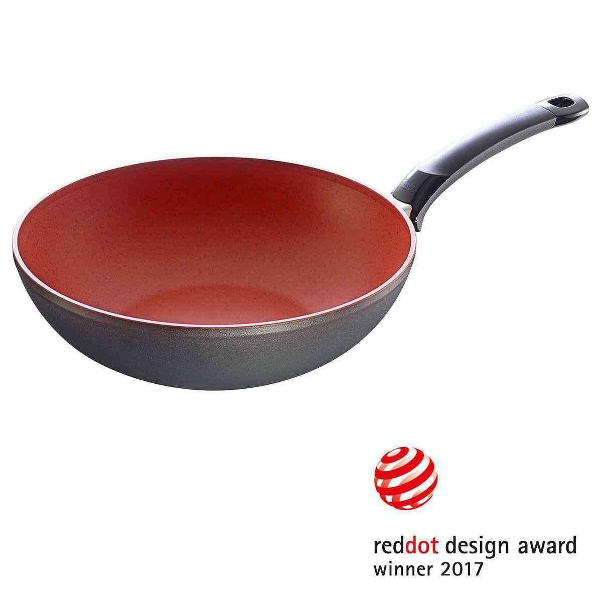 Fissler Wok pánev s nepřilnavým povrchem Senso Red 28 cm -