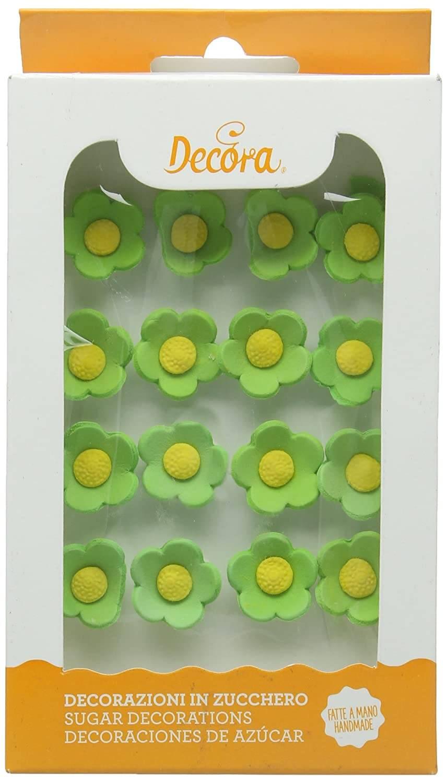 Cukrové květiny 16ks zelené - Decora