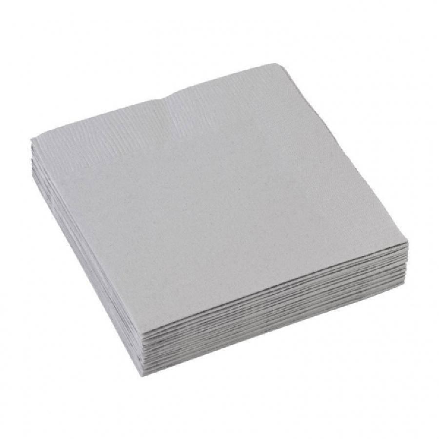Ubrousky stříbrné 20ks 25x25cm - Amscan