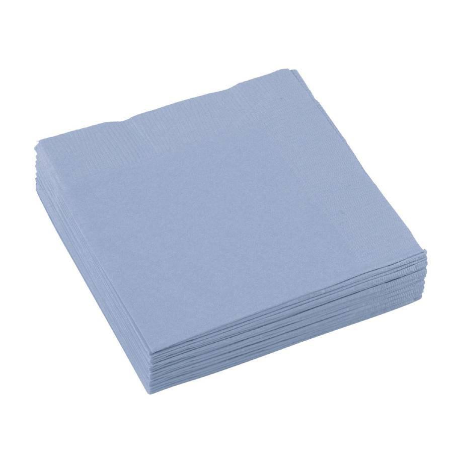 Ubrousky pastelově modré 20ks 25x25cm - Amscan