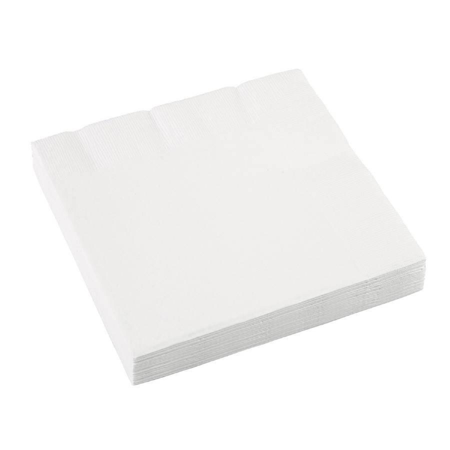 Ubrousky bílé 20ks 33x33cm - Amscan