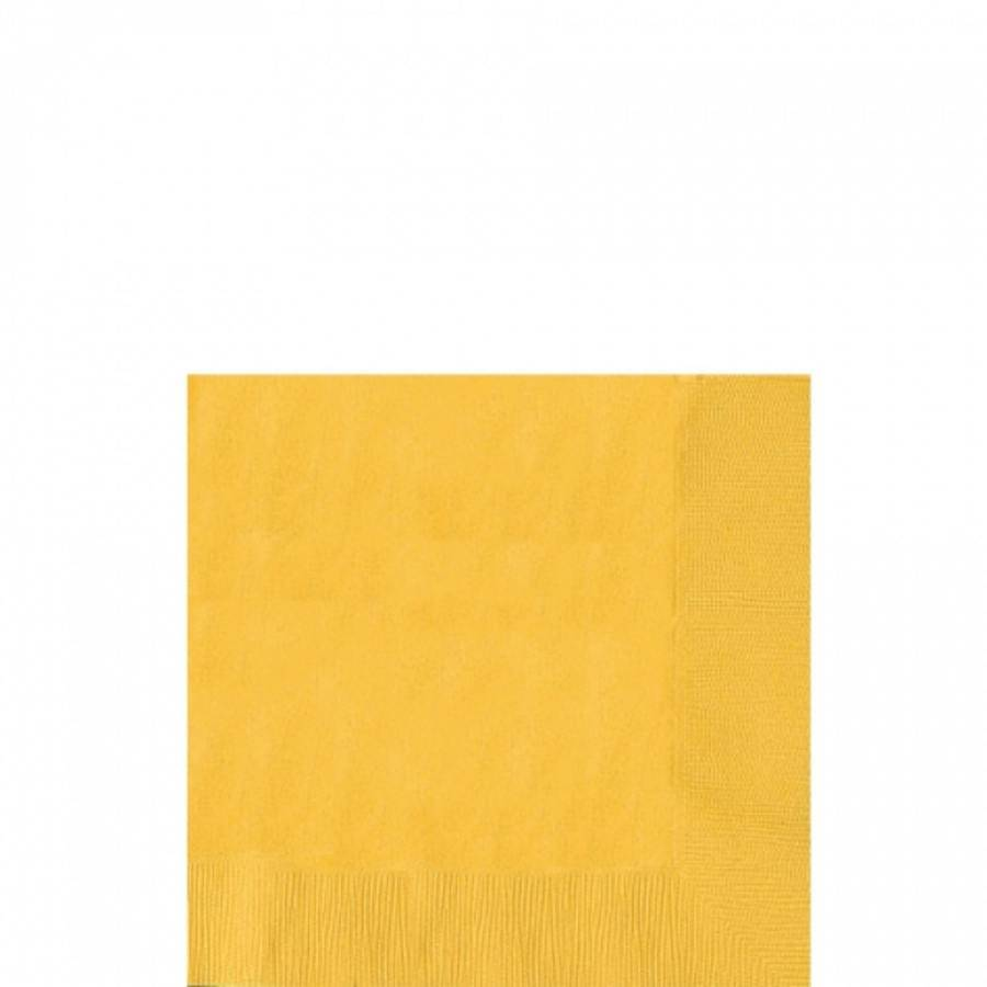 Ubrousky žluté 50ks 25x25cm - Amscan